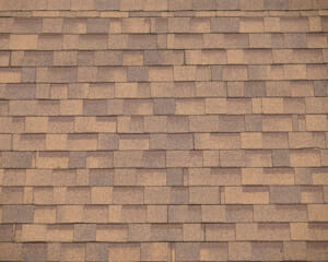 close up on brown roof shingle background